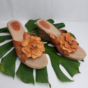 Boc By Born Burnt Orange Wedge Sandal Size 9M